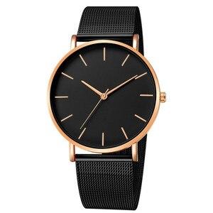 Простой современный кварцевые часы для женщин, сетчатый Браслет из нержавеющей стали, высококачественные повседневные наручные часы для женщин, Montre Femme D20