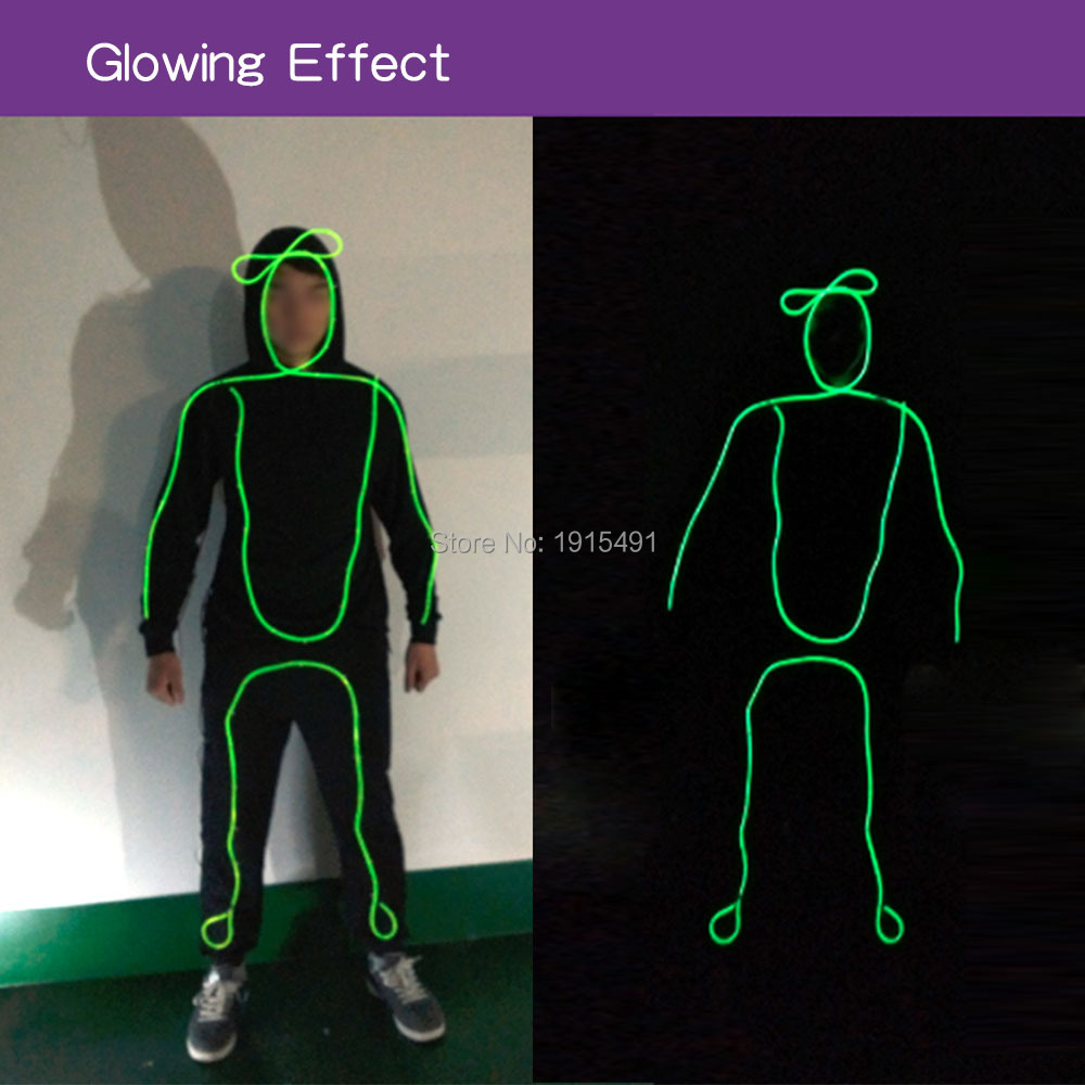 Flashingworld Neon Led Beauty Neon Costume Birthday Holiday Lights EL Cold Light Glowing Clothing Fancy Dress Accessory Suit