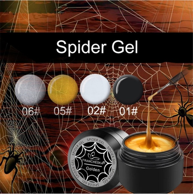 1 Pc 8ml Gel Nail Polish Art UV LED Professional Nail Paint UV Color Gel Lacquer Emboss Pulling Wire Spider Gels 4