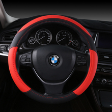 Automobile steering wheel cover leather Car Anti-slip auto covers Auto Sports Steering Wheel Cover