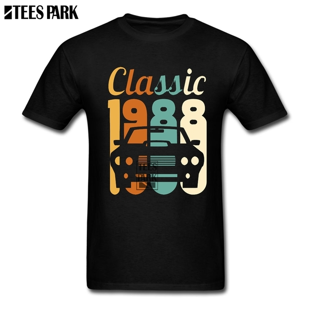 2019 Shirt Men Vintage 1988 Birthday 30th Gift 30 Years Old Awesome T Shirts Short Sleeve Designing Daddy