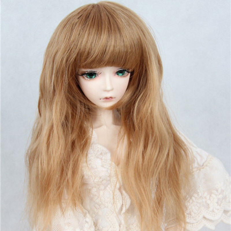bjd wig 9-10 inch 1/3 1/4 1/6 high-temperature wig boyvampire long curly hair sd doll Wigs fashion type stylish hair 1 8 bjd sd doll wigs for lati dolls 15cm high temperature wire long curly synthetic hair for dolls accessorries high quality wig