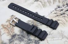 Great Quality Waterproof Blcak Silicone watch Strap for Casio MRW-200H strap Watch Accessories