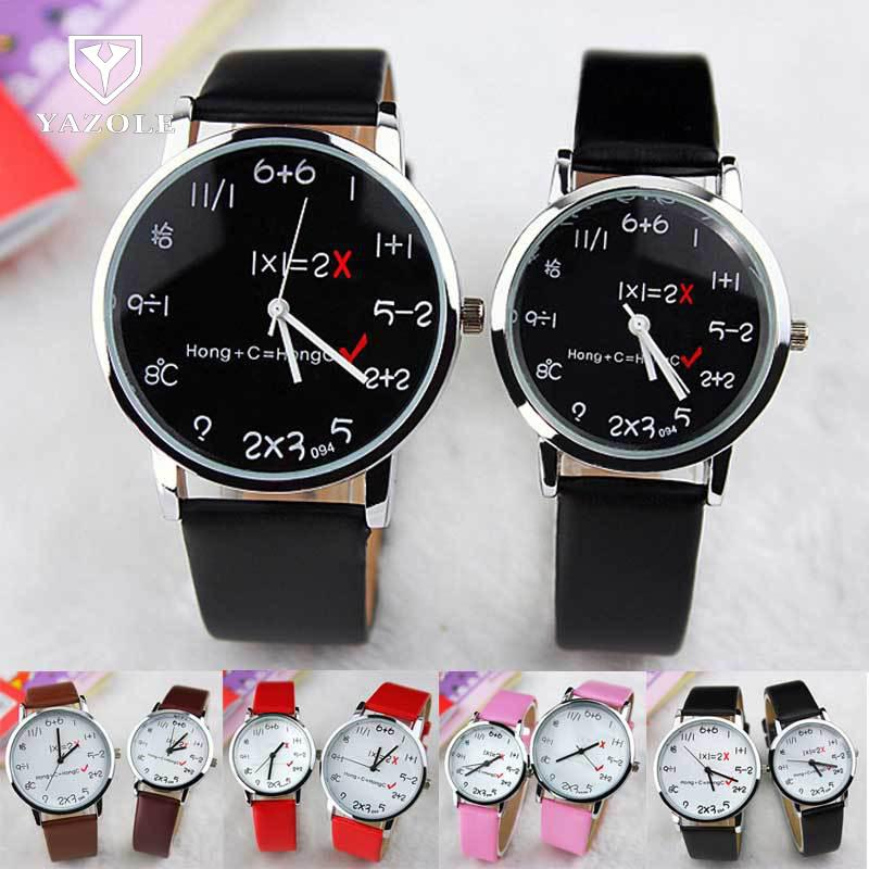 Cute Fashion Funny Silver Shell Leather Quartz Wrist Watch Clock for Women Men Couple Black White Counting Watch