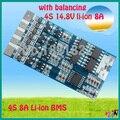 4S 8A 14.8 V junta de protección de la batería li-ion BMS PCM bms pcm con equilibrio de LicoO2 Limn2O4 batería li