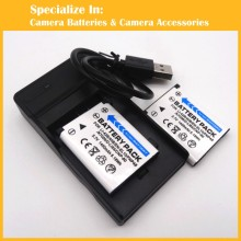 Eeyrnduy 2 pcs Battery 1x charger set For Nikon EN-EL10 LI-42B 40B FNP45 K7006 D-Li63 CNP80 replacement digital battery el10