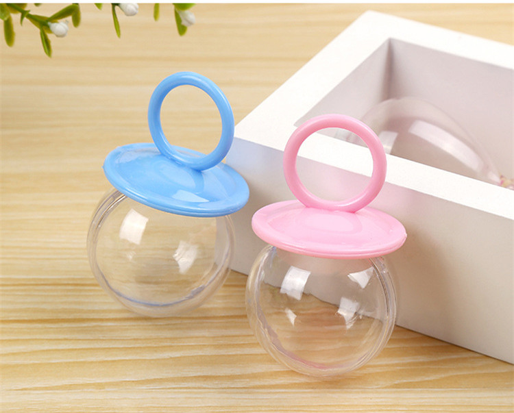 20pcs/lot Plastic Childrens toy candy Nipple baby kid toys birthday clay gift sweet storage Party Decorate