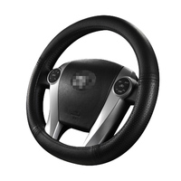 Steering Wheel Cover Oval cover for Toyota Prius 30 Prius AQUA SEAT Leon VW Golf GTI Sport braid on the Steering Wheel Cover