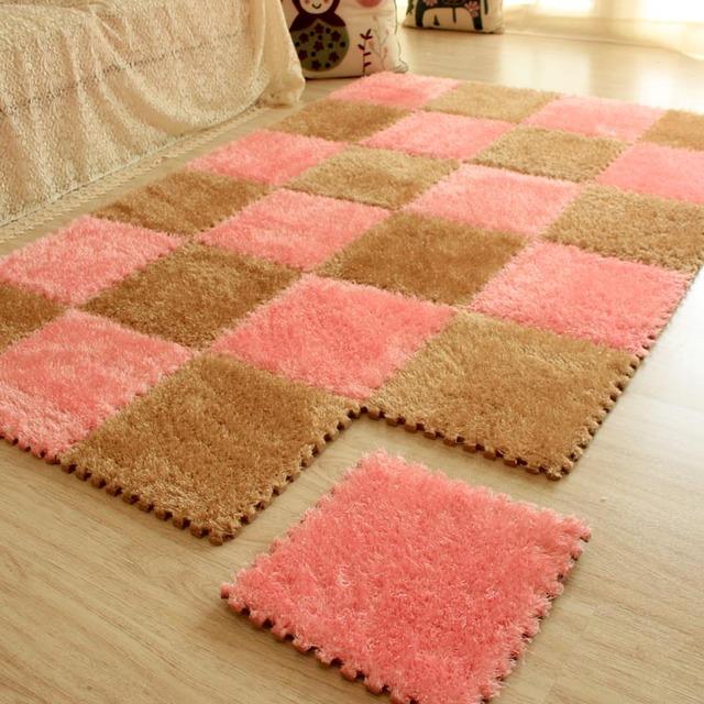 Fashion Soft Joining Together Luxury stretch yarn Foam Mats, Baby Climb A Rug Carpet