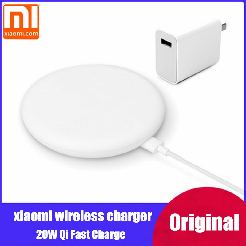 original xiaomi wireless charger 20W Qi Fast Charge For Mi 9  MIX 2S / 3 (10W) iphone 8 x xs xr huawei mate 20 pro p30-in Mobile Phone Chargers from Cellphones & Telecommunications