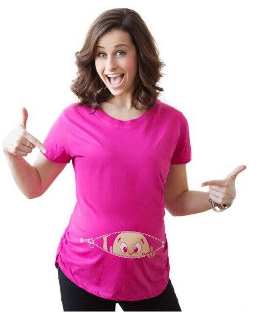982ee0484 Gravida blousing Loose fit ropa cómoda Maternidad camiseta mujer embarazada  Tops o-cuello embarazo Camisetas