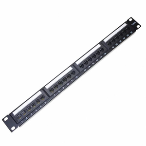 Cat6 UTP RJ45 Network Cable Patch Panel 24Port 1U 19'' Inch Gold-plated With Keystone Jacks Pass Fluke Rack Patch Panel