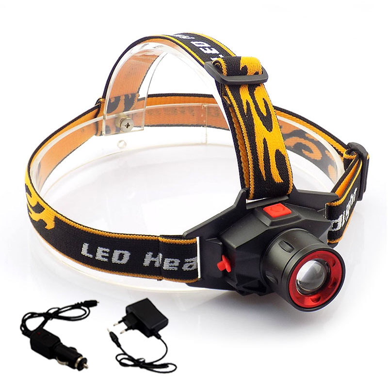 Rechargeable Q5 Led headlamp Headlight Zoomable adjustable high power Head Lamp Torch Flashlight Camping Hiking Fishing high quality 2 mode power 5w led headlight 48000lx outdoor fishing headlamp rechargeable hunting cap light
