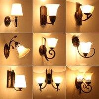 HGHomeart LED Wall Lamp Vintage Indoor Lighting Antique Lamp Luminarias 110 220V Bedside Lamp Industrial Wall Lights Nordic Lamp