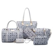 ITSCOSY Women Handbag High Quality Tote Bags 2 Handbags +Crossbody Bag+Wallet +Purse +Keychian 6 Piece Set Bags