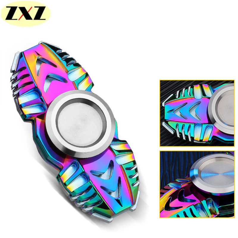 The new Egyptian Scarab Colorful Fidget Spinner Rotation Time Long EDC Zinc alloy Metal hand spinner