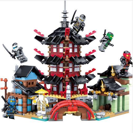 Joyyifor 2018 Ninja Temple 737+pcs DIY Building Block Sets educational Toys for Children Compatible legoing ninjagoes