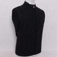100% норки кашемира Большие размеры Мужская молния сгущает свитер; кардиган; пальто S/105 4xl/135 в розницу и оптом