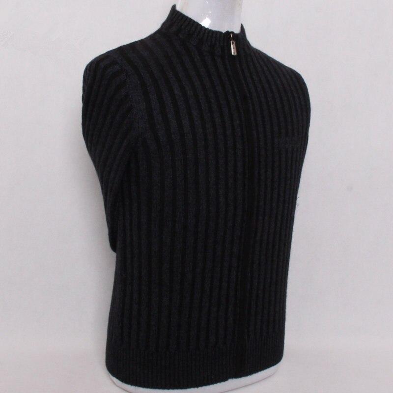 100%mink Cashmere Plus Size Men's Zipper Thicken Cardigan Sweater Coat S/105-4XL/135 Wholesale Retail