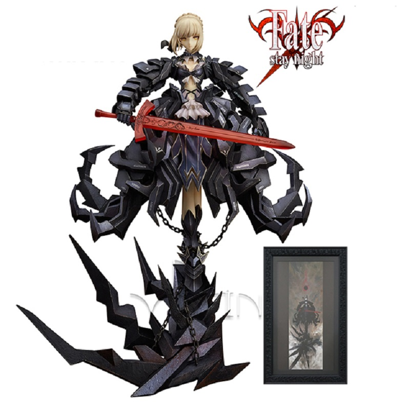 Dowin Fate/Stay Night black Saber figure Huke  figurine collection saber for children toys stay black