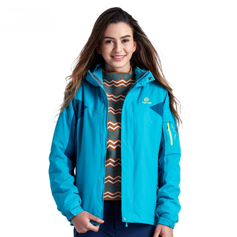 2016 New Winter Women 3 in 1 Hiking Jackets Outdoor Sport Waterproof Thermal Two-piece Coats For Travelling Skiing Hiking S-XXXL new winter 3 in 1 kids hiking jackets children boys girls waterproof thermal two piece fleece coats hiking skiing jacket