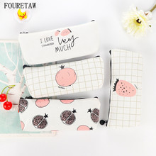 1 Piece FOURETAW Creative Amazing Fashion Classic Cute Pomegranate Strawberry Korea Girls Coins Pen Card Home Office Storage Bag