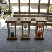 Diy 목재 모래 유리 시계 모래 시계 타이머 장식 웨딩 모래 타이머 나무 문자 모래 시계 빈티지 홈 인테리어 acessories