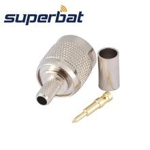 Superbat 10 Uds TNC conector de crimpado macho conector Coaxial RF para Cable RG58 RG142... LMR195