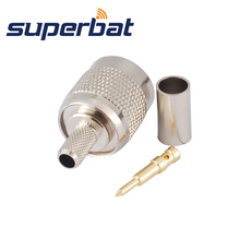 Superbat 10pcs TNC Crimp Plug Male RF Coaxial Connector for Cable RG58 RG142,LMR195