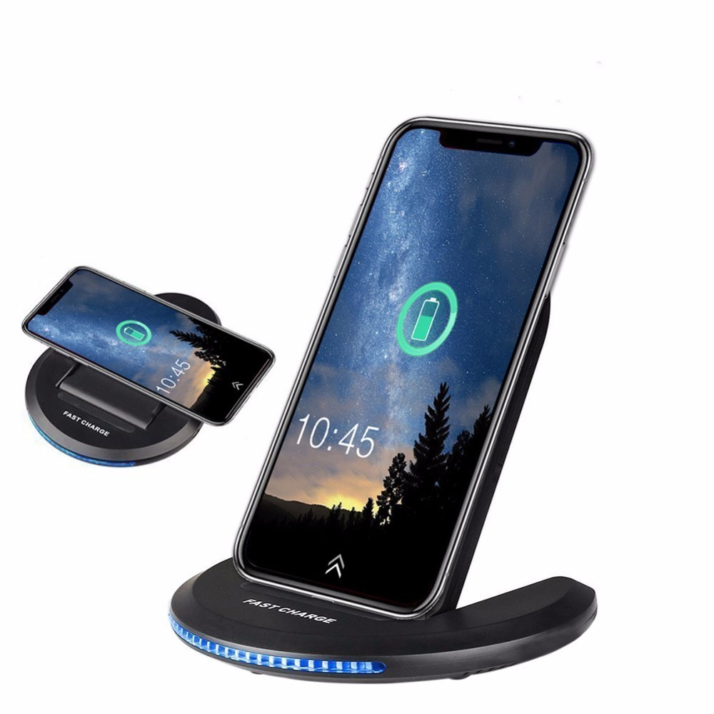 Foldable Qi Wireless-Charger Mobile charger Portable Holder stand carregador portatil for samsung galaxys7 s8 iphonex 8 plus J25