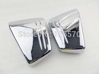 Chrome Motorcycle Battery Cover Side Fairing Battery Cover For Honda VTX 1800C VTX1800C 2002 2004 2006 2008 Custom