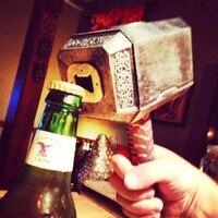 Открывалка для пивных бутылок Молот Тора фигурная открывашка вино пиво содовая стеклянная крышка открывалка для бутылок кухонный бар пода...