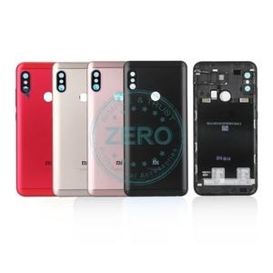 Image 1 - Original For Xiaomi Redmi 6 Pro Back Battery Cover Metal + Sim Card Tray Rear Housing Mi A2 Lite Battery Door Case Spare Parts