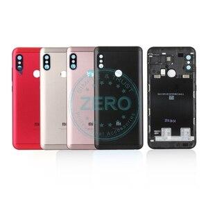 Image 1 - Oryginalny dla Xiao mi czerwony mi 6 Pro tylna pokrywa baterii Metal + karty Sim taca tylna obudowa mi A2 lite baterii przypadku drzwi części zamienne