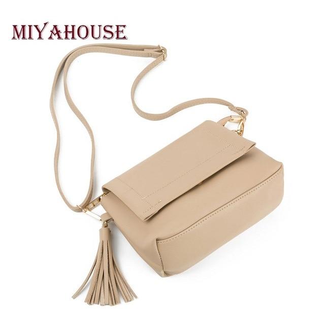 Miyahouse Hot Sale Trendy Female Envelope Crossbody Bag PU Leather Women  Small Tassel Shoulder Bags Ladies f709c1215e7f6