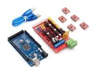 Mega 2560 R3 1pcs RAMPS 1 4 Controller 5pcs A4988 Stepper Driver Module For 3D Printer