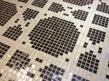 custom made negro white sand glass mosaico parquet cocina sala de bao aseo baldosas azulejos de la pared interior de la casa decoracin with baldosas y