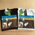 Ripndip Camisetas Das Mulheres Dos Homens 1:1 de Alta Qualidade 100% T Dos Desenhos Animados camisa Skate Rasgar n Dip Árvore Gato Bolso Tee Ripndip camisetas