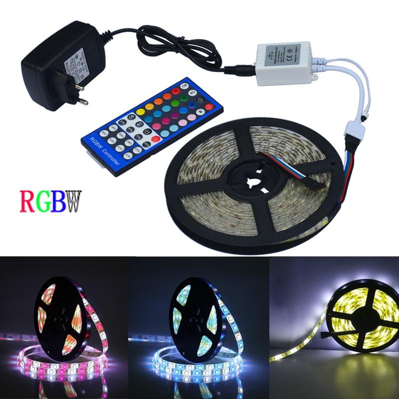 Jiawn 5m 5050 RGBW LED páska + Dálkový ovladač + 12V 2A - LED Osvětlení