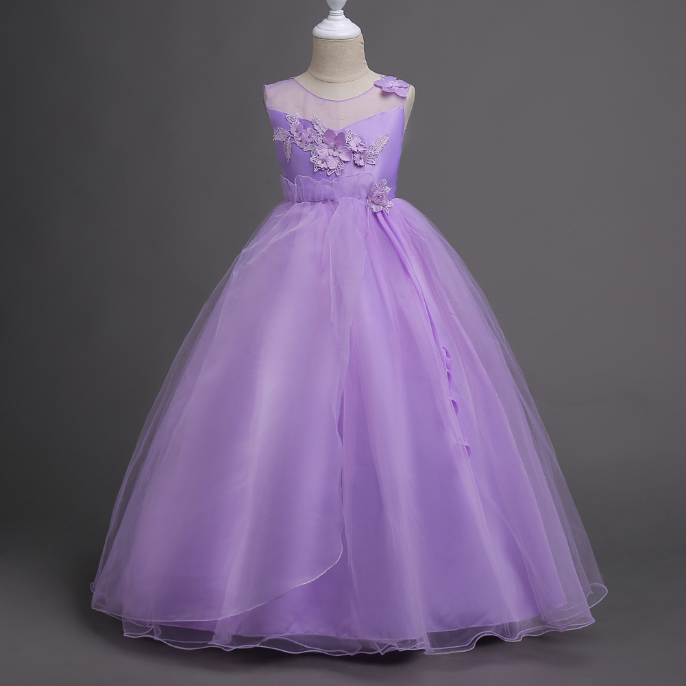 Kids Clothes Princess Ball Gowns Teens Dresses for Party and Wedding Grey Peach Mint Lavender Children Girl Pageant Dress ball gowns for children pageant teenage girls clothes top grade kids wedding dresses ivory beading diamond wedding dress
