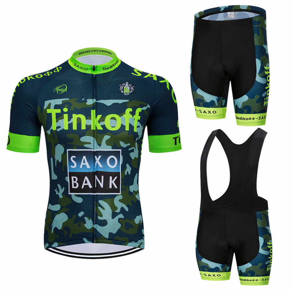 TINKOFF Jersey Cycling Set Pro Team 2017 Cycling Jersey MTB Wear Short  Sleeve Set Bike Sport 25ead6540