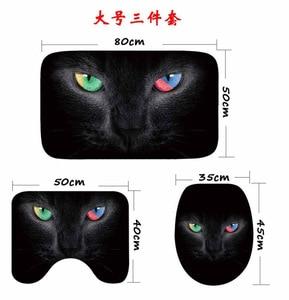 Image 3 - Cammitever 3 개/대 귀여운 고양이 샤워 목욕 매트 화장실 뚜껑 비 슬립 매트 카펫 물 흡수