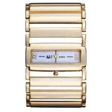 2016 новые марка дизайн мода повседневная женщины леди роскошные часы стали прохладный спорт военный бизнес гирт кварта наручные часы b014