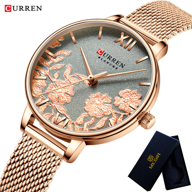 CURREN Women Watches Waterproof Top Brand Luxury Gold Ladies Wristwatch Stainless Steel Band Classic Bracelet Female Clock 9065