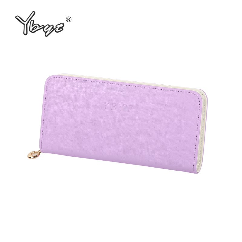 YBYT brand 2017 new women fashion simple candy color fresh long solid zipper wallet ladies coin purses female hard card package ybyt brand 2017 new fashion simple solid zipper long women standard wallets hotsale ladies pu leather coin purses card package