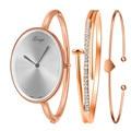 Relógio marca As Mulheres Ouro Strass Pulseira Relógio E Pulseira Conjunto Relógio feminino Senhoras Relógio Frete grátis Feida