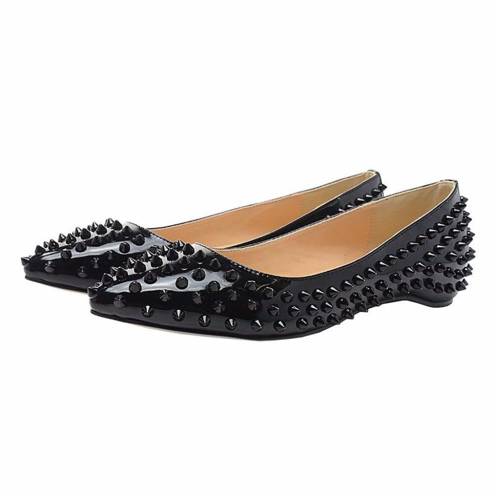 ФОТО ZK women fashion sexy flat shoes rivets shoes big size EU 34--45