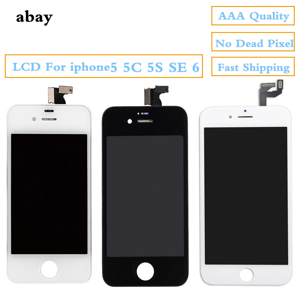 No Pixel LCD Display+Touch Screen For <font><b>iphone</b></font> <font><b>5</b></font> 5s 5c SE 6 Digitizer Assembly Replacemet Parts LCD For <font><b>iphone</b></font> 6 Pantalla <font><b>Ecran</b></font> image