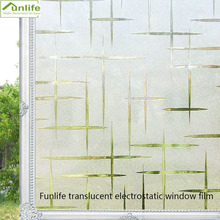 Funlife 30/45/60/75/90*200cm  Waterproof Window Privacy Films, Frosted No-Glue Static Decorative Stickers
