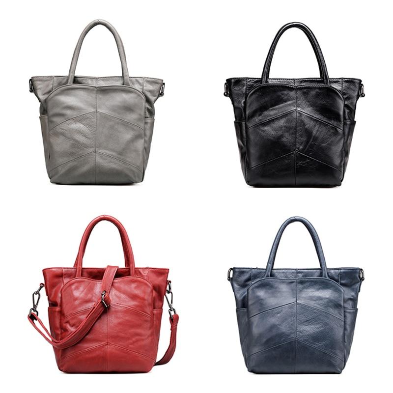 Vrouwen eerste laag van lederen handtassen Casual schoudertas - Handtassen - Foto 2